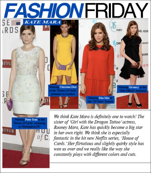 FASHION FRIDAY- KATE MARA