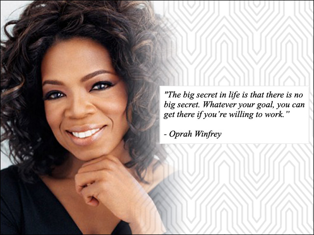 Inspirational Quote - Oprah Winfrey