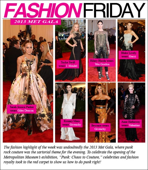 FASHION FRIDAY- Met Gala