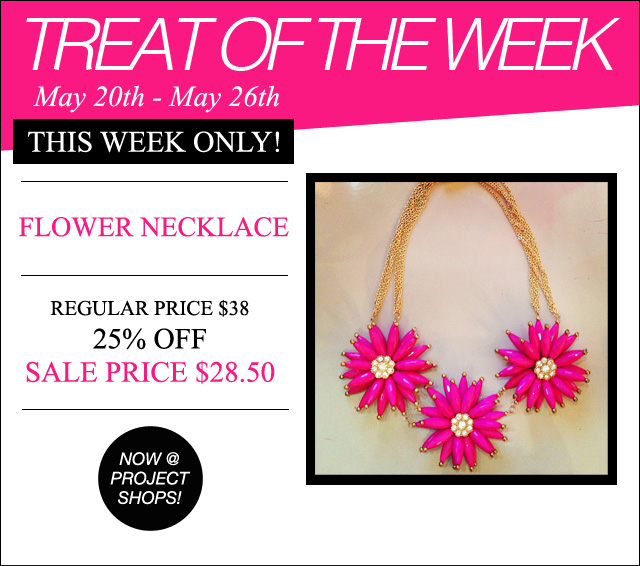 Treat of the Week-Flower necklace