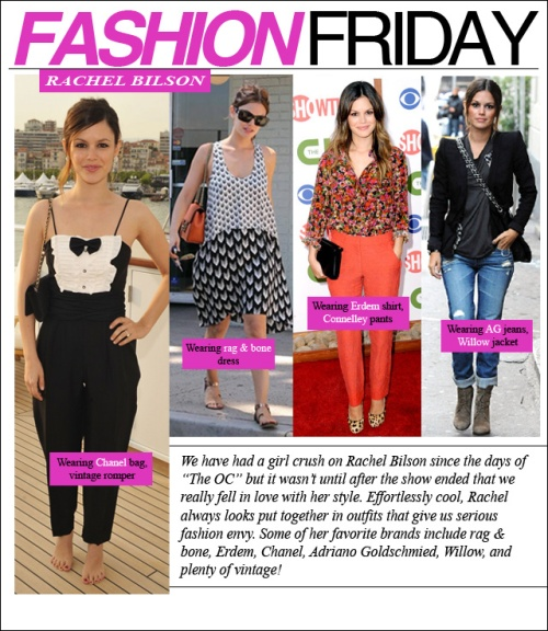 FASHION FRIDAY- Rachel Bilson