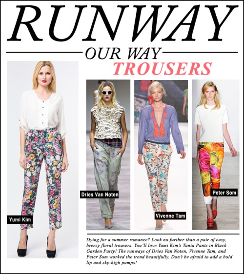 Runway Our Way - TROUSERS
