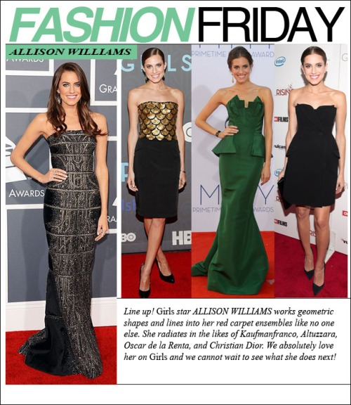 FASHION FRIDAY-allison williams