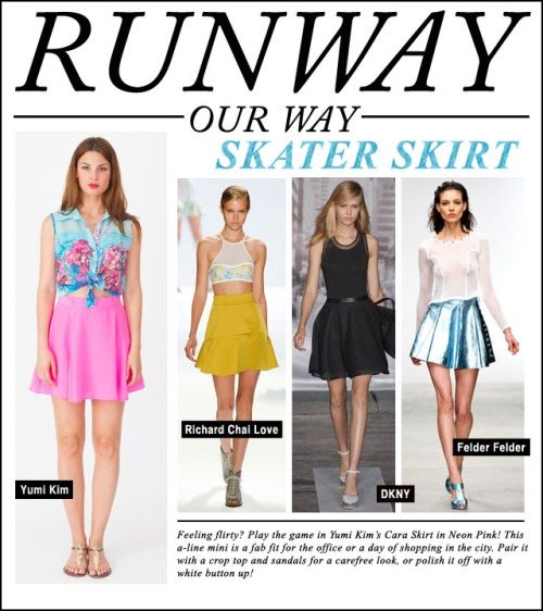 Runway Our Way - skater skirt
