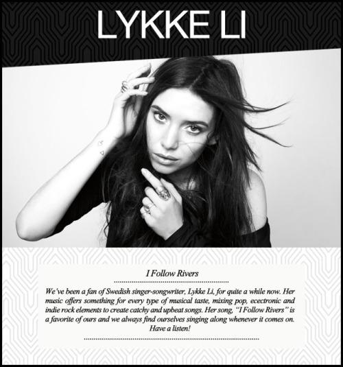 Music Monday Lykke Li