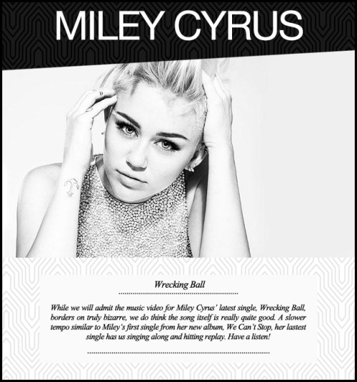 Music Monday Miley Cyrus