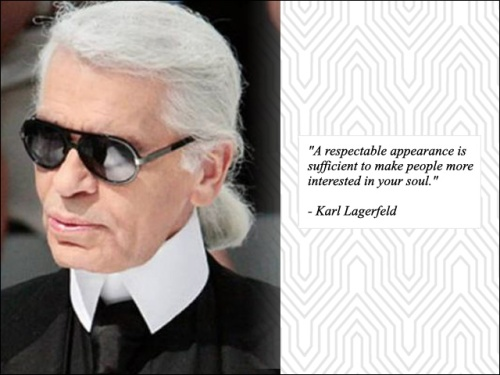 quote karl lagerfeld