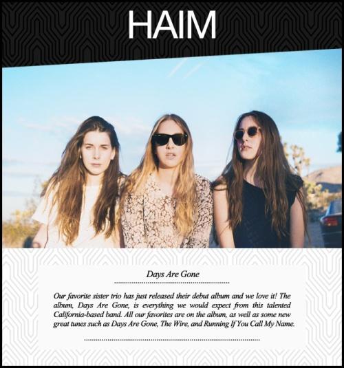 Music Monday Haim